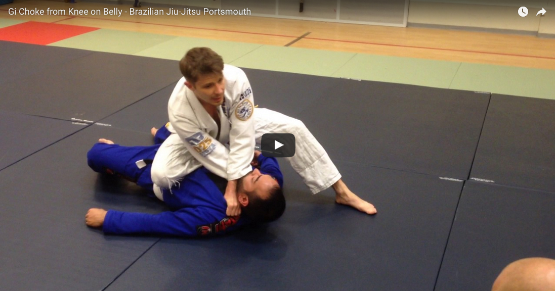 Gi Choke from Knee on Belly