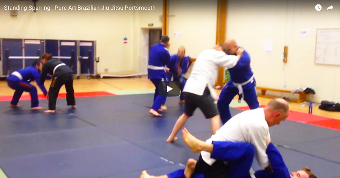 Standing Sparring In BJJ Lessons in Portsmouth