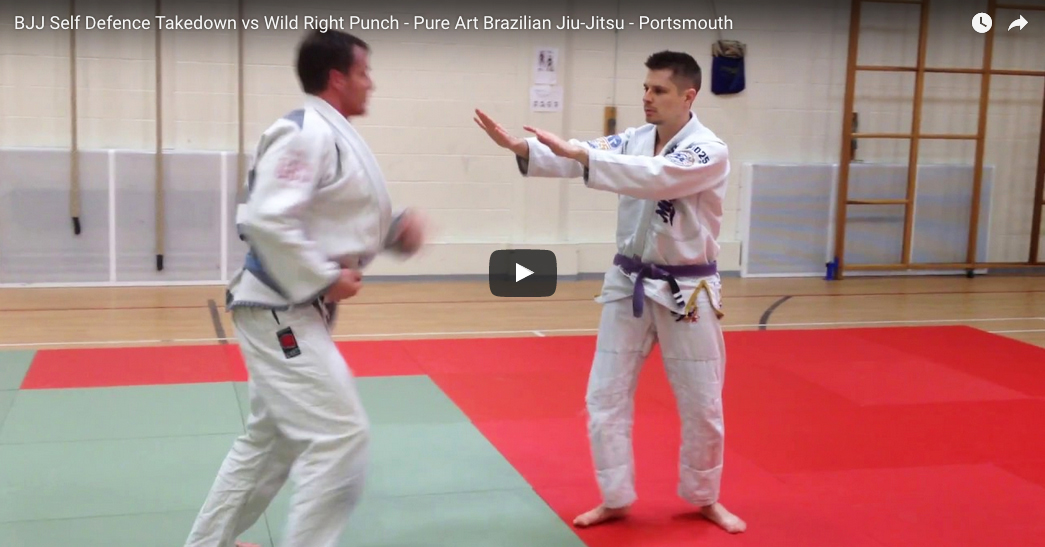 BJJ Self Defence Takedown vs Wild Right Punch