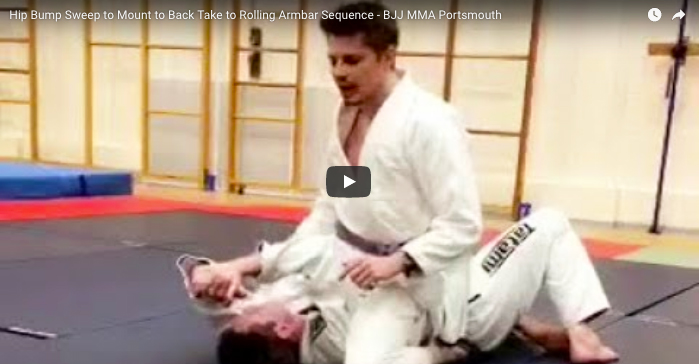 Hip Bump Sweep to mount to Back Take to Rolling Armbar