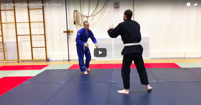 Live Standing Sparring from BJJ Class