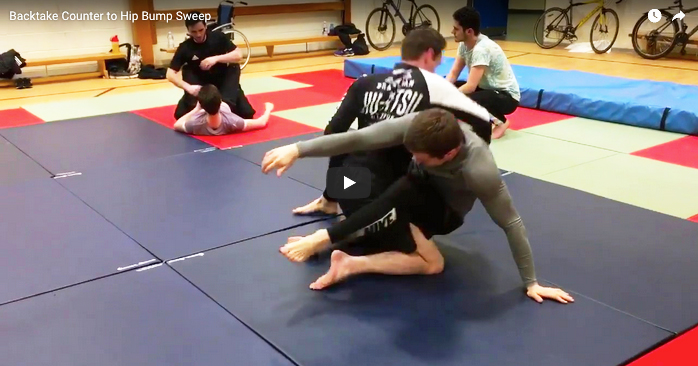 Back Take Counter To Hip Bump Sweep