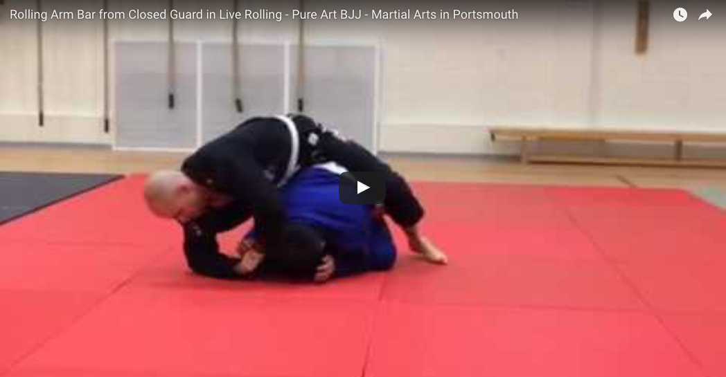 Rolling Arm Bar From Closed Guard In Live Rolling