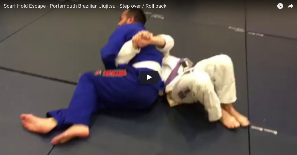 Scarf Hold Escape - Step Over / Roll Back
