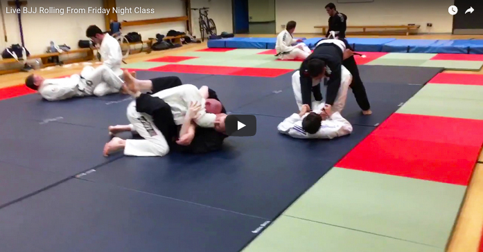 Live BJJ Rolling From Friday Night Class