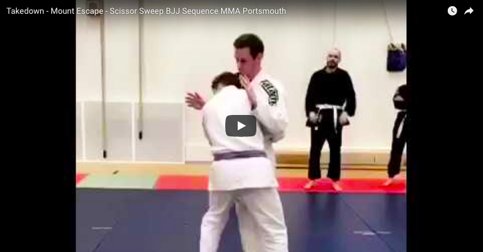 Takedown - Mount Escape - Scissor Sweep Sequence