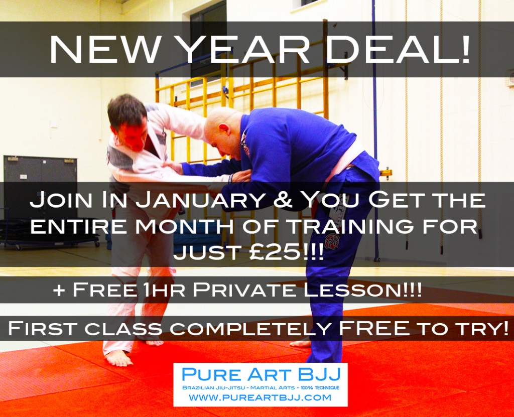 New Year Deal. Train all session of Brazilian Jiu-Jitsu in Portsmouth in January for just £25!!!