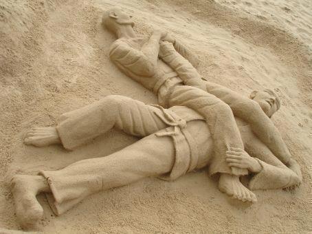 BJJ Sand Sculpture