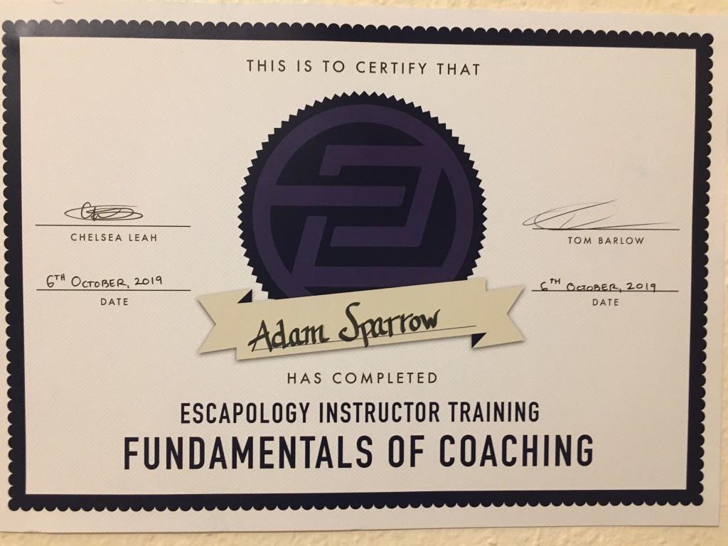 BJJ Instructor Certificate