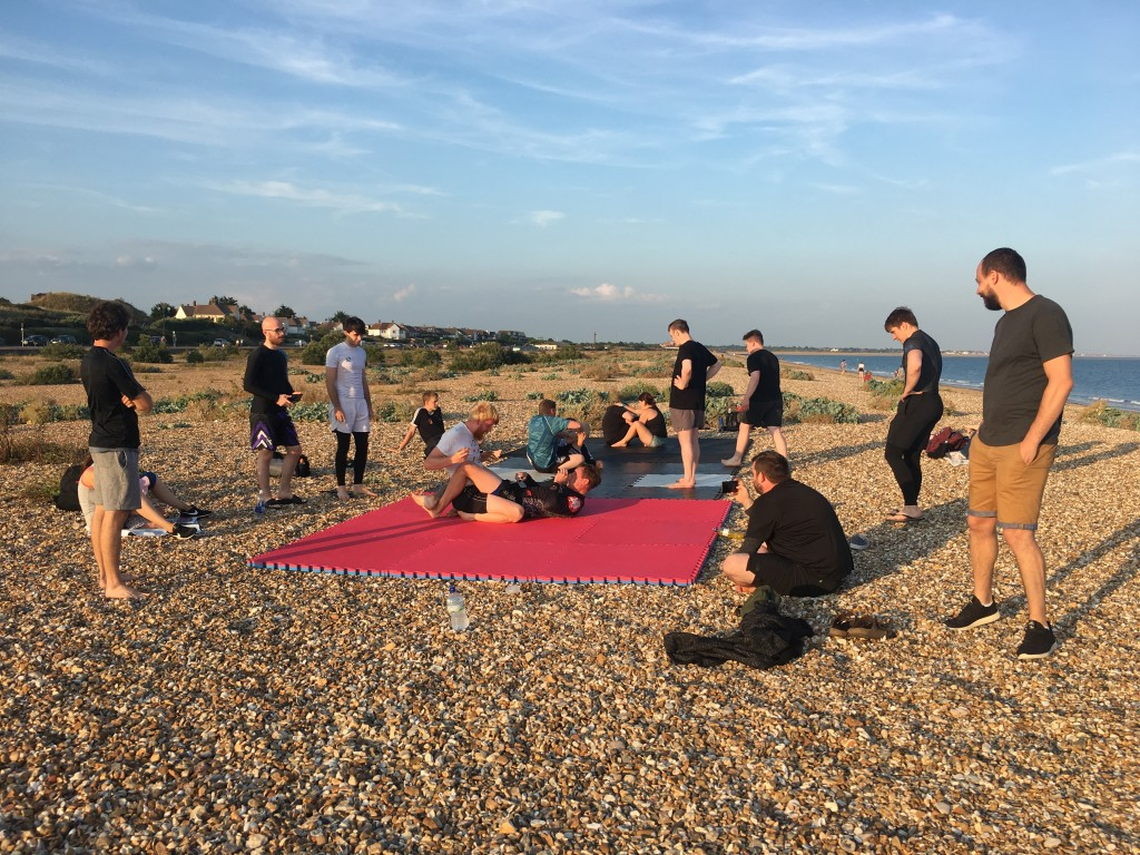 Portsmouth BJJ Beach Training