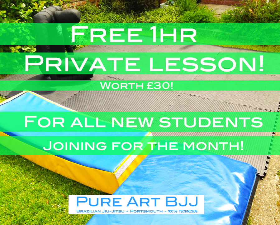 BJJ Class Portsmouth - Free 1hr Private lesson! When joining for the month in July!
